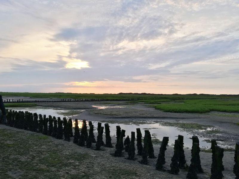 Wattenmeer Reflection Landscape Outdoors Cloud - Sky Sunset Sunlight Water No People Beauty In Nature Weltnaturerbe Weltnaturerbe Wattenmeer Langeoog