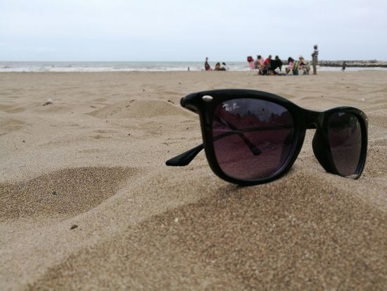 Sunglasses Beach Sand Sea Vacations Large Group Of People Horizon Over Water first eyeem photo