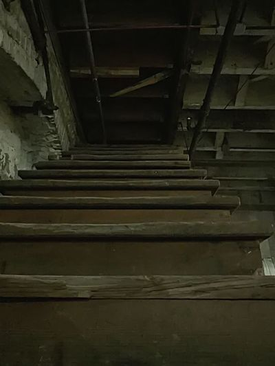 Non-Tourist Shanghai Tunnels Once A Trapdoor, Now A Staircase To Nowhere Steps Steps And Staircases Indoors  Staircase Obsolete Diminishing Perspective Ghosts Dirty Repetition Damaged Unsuspecting People's Lives Views Perspective Shanghai Tunnels Haunted Abandoned Abandoned Places