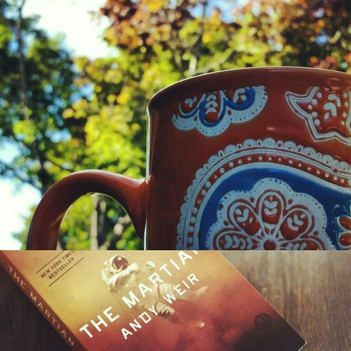 Beautiful morning for a book on the deck Themartian Coffee Good Morning Fallmornings