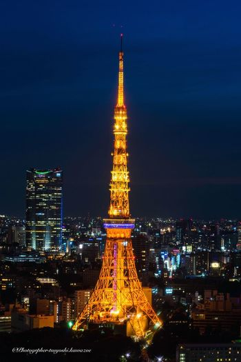 Tokyo Tower Blue Moment Nightphotography Night View Architecture Tower Illuminated Built Structure Night SONY ILCE-7M2 SONY SEL90M28G Sony α♡Love 鉄塔♡Love