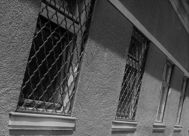 Architecture Building Exterior Built Structure Close-up Day Low Angle View No People Outdoors Steps And Staircases Window Locked Up solitude Behind Bars