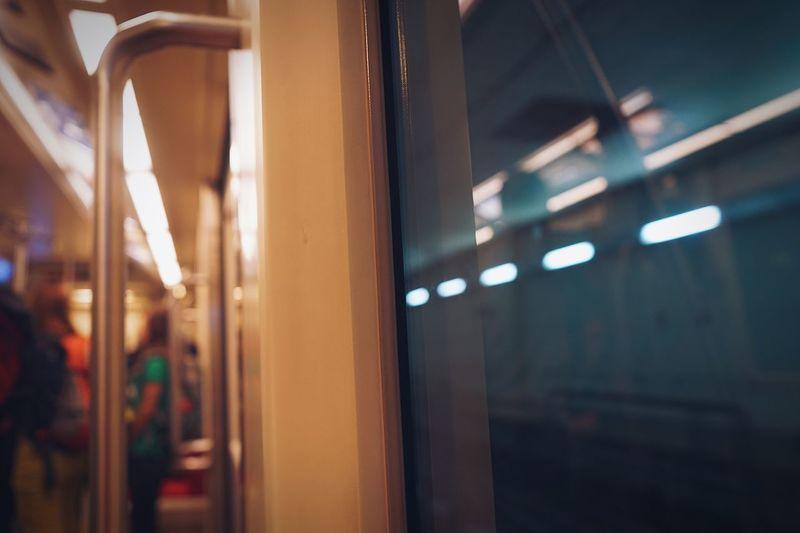 🚇 Dubai Transportation Train - Vehicle Indoors  Public Transportation Focus On Foreground Mode Of Transport Rail Transportation Train Interior Close-up Window Illuminated No People Subway Train Day Dubaiairport