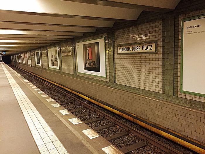 Underground Tramstation U-Bahn BVG - Berliner Verkehrsgesellschaft Subway Berlin Victoria Luise Platz Berlin Waiting