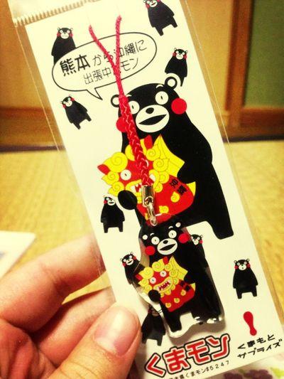 妹が沖縄のお土産に 買って来てくれた♡ くまモン♡かわいい♡♡♡
