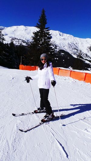 Skiing Savoie Love Hanging Out My Winter Favorites Mountain Ski Favorite Sport Blue Sky Sunny Day Snow