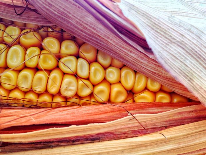 Texture Natural Macro Detail Plant Cereal Plant Agriculture Food And Drink Food Freshness Wellbeing Healthy Eating Still Life No People Corn High Angle View Close-up Day Vegetable Yellow