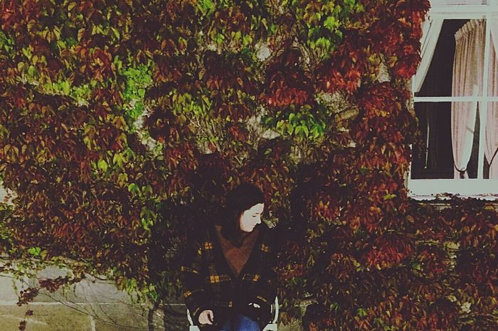 Randomly found myself in this beautiful place Castle Ivy Beautiful Self Portrait Outdoors