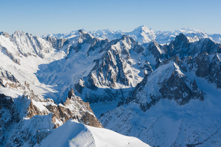 Alps view from Aiguille du Midi Alpes AlpesFrancaises Alps Beauty In Nature Blue Chamonix Chamonix-Mont-Blanc Cold Temperature Landscape Majestic Mont Blanc Mountain Mountain Range Nature Rocky Mountains Scenics Season  Sky Snow Snowcapped Snowcapped Mountain Tranquil Scene Tranquility Weather Winter