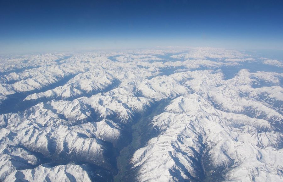 Flying over the Alps Aerial View Alps Blu Sky Cold Temperature Flying Idyllic Landscape Landscape_Collection Majestic Mountain Mountain Range Outdoors Scenics Shadows Skiing Sky Snow Snowcapped Mountain White Snow Winter Feel The Journey Original Experiences On The Way