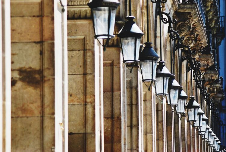 Row Of Street Lights On Colonnade