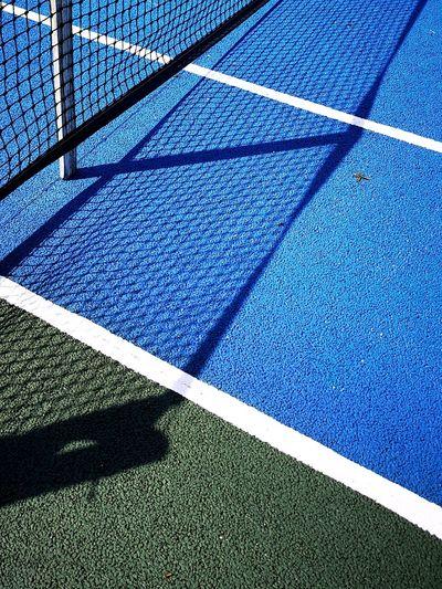 Huaweip20pro Tennis 🎾 Tenniscourt Blue Full Frame High Angle View Sunlight Close-up Detail