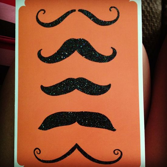 My awesome birthday card :) Mustache Birthdaycard 21