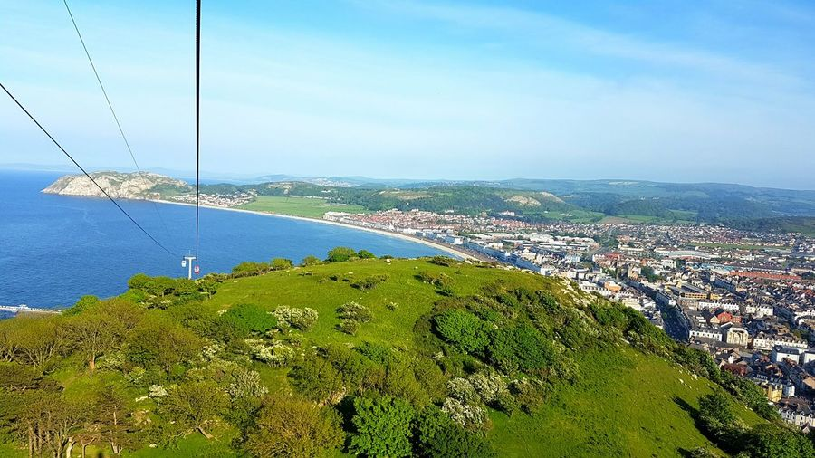 View of the city from cable car at Great Orme. Great Orme City Llandudno Wales United Kingdom Scenic View Scenery Nature Photography Travel Photography Landscape_photography Malaysianphotographer EyeEm Gallery Eyeemphotography EyeEm Best Shots - Nature EyeEm Nature Lover Summer Travel S7edgephotography Landscape Outdoors June 2016 Windy S7edge