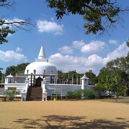 Lankarama is a stupa built by King Valagamba, in an ancient place at Galhebakada in the ancient kingdom of Anuradhapura, Sri Lanka. Nothing is known about the ancient form of the stupa, and later this was renovated. The ruins show that there are rows of s