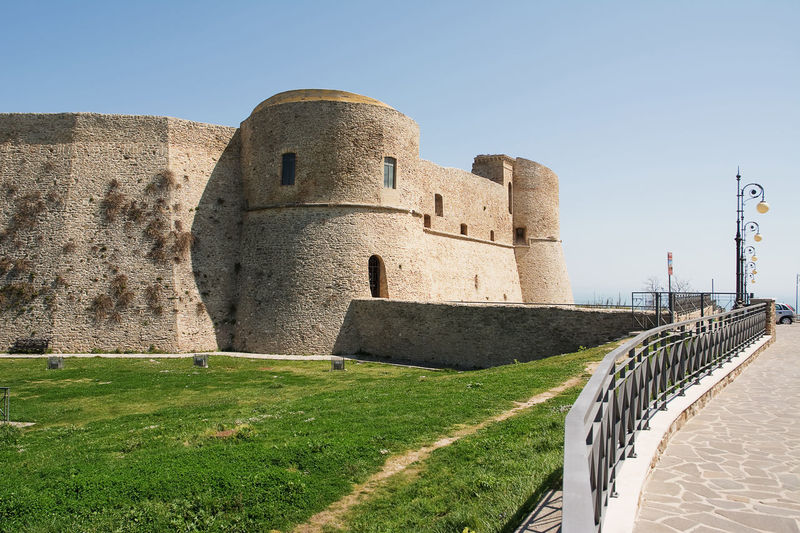 Aragonese castle of Ortona in Abruzzo (Italy) Abruzzo Ancient Aragonese Architecture Architecture Building Built Structure Castle Chieti Day Europe Fortification Fortress Historic History Italy Medieval No People Ortona Touristic Town
