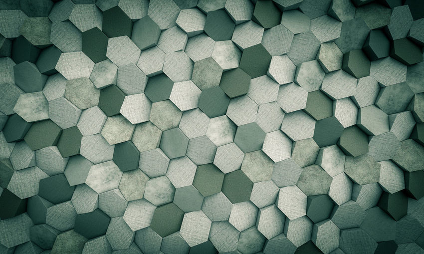 Backgrounds No People Textured Effect Geometric Shape Textured  Large Group Of Objects Repetition Modern Hexagon Hexagonal Decorative Design Hexagonal Tiles Honeycomb Structure Honeycomb Concrete Wall Background Texture Desktop Wallpaper