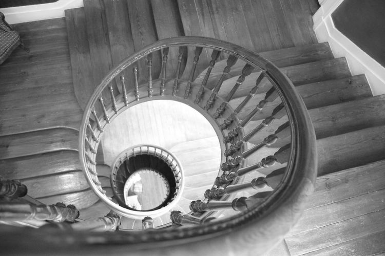 Caracol Steps And Staircases Staircase Spiral Steps Railing High Angle View Architecture