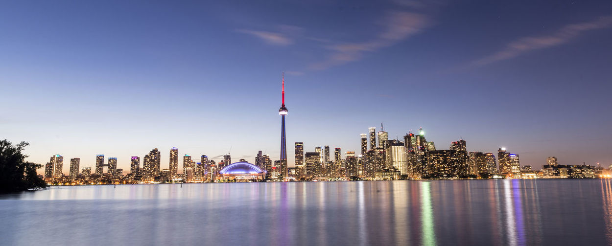 Modern Reflection Toronto Architecture Building Exterior Built Structure Canada City Cityscape Illuminated Modern Night No People Outdoors Reflection Scene Scenics Sky Skyscraper Tall - High Tourism Travel Destinations Urban Skyline Water Waterfront