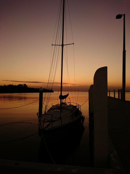 Boat Yacht EyeEm Selects Sunset Silhouette Sea Sky Horizon Over Water Nautical Vessel