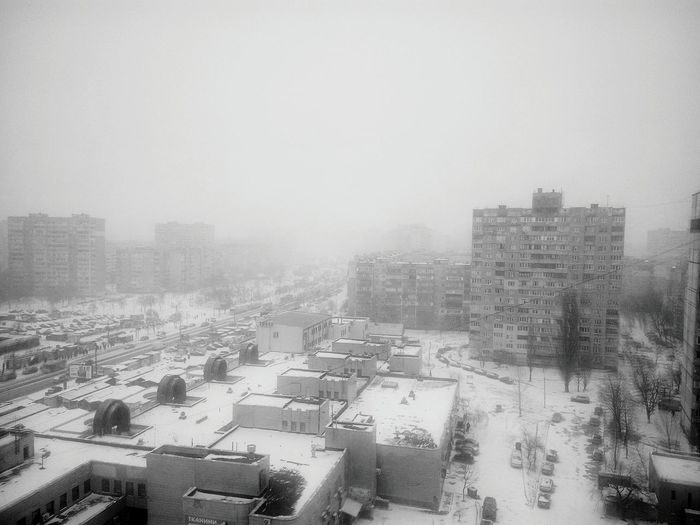 How's The Weather Today? First Snow In Kiev
