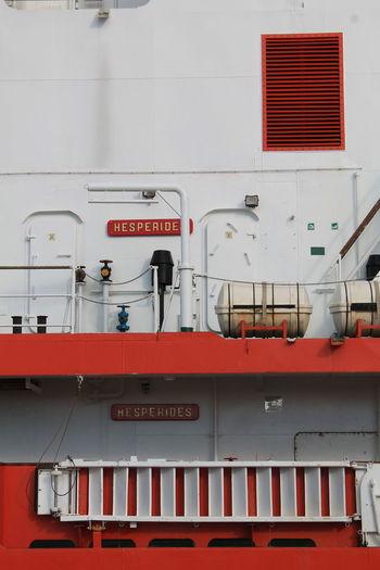 Hesperides II Spanish Navy Armada Española BIO Hesperides Hesperiden Gardens Biology Antartic Expeditio Boat Boats Boat Deck Sea Sea Life Spaın Red Travel No People No Filter, No Edit, Just Photography