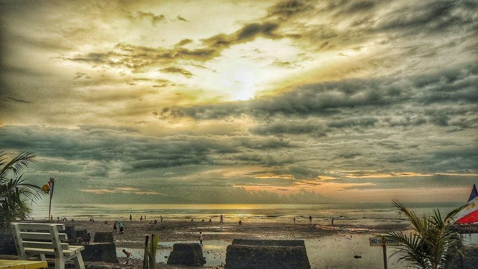 Paseo de Santiago City Sunset Storm Cloud Beach Cityscape Sea Dramatic Sky Multi Colored Sky Cloud - Sky