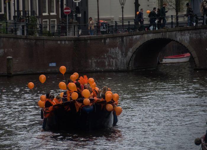 Orange ballons