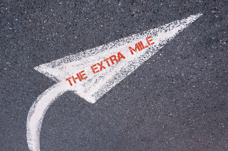 High angle view of text on road