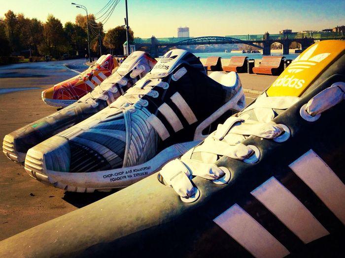 Shoes Huge Bigfoot Quadratlatschen Q Lieblingsteil Moscow City Gorky Park iPhone 4S