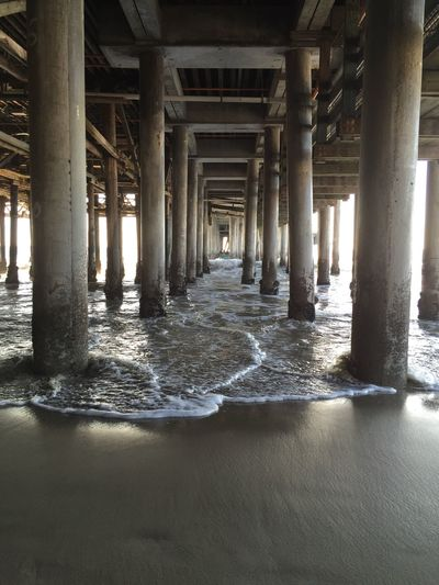 Pier Architectural Column Architecture Built Structure No People In A Row Day Nature Pier Water Beach Sea Underneath