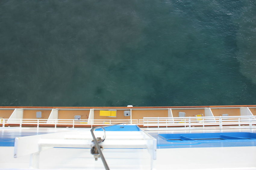 AIDAluna Cruis Ship Side View Aida Cruise Ship Aidaluna Caribbean Cruise Day High Angle View Mode Of Transport Moored Nature Nautical Vessel No People Outdoors Railing Side Of A Ship Transportation View From Above Viewing The Sea Water Let's Go. Together.