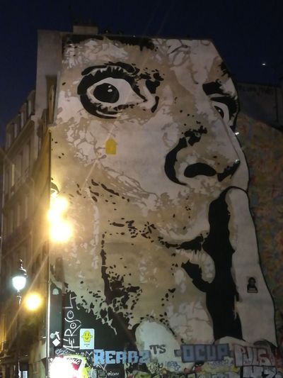 Wall Sreet Art Paris By Night Paris Beaubourg Outdoors Tourism ArtPop Illuminated Face Paint