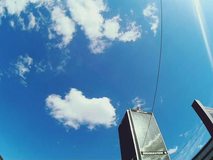 Cobalt Blue By Motorola Gopro GoPrography Sky Sky Collection Sky And Clouds Urban Urban Geometry Architecture Urban Architecture