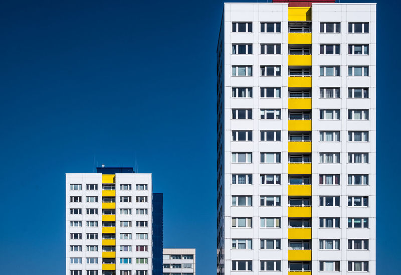 Blueskybuildings Architecture_collection Berlin Photography Cityscape Minimalist Plattenbau Architectural Feature Architecture Architecturelovers Berliner Ansichten Berlinmalism Blue Building Exterior City Cityexplorer Clear Sky Fujix_berlin Fujixe3 Fujixseries Minimalism No People Ralfpollack_fotografie The Architect - 2018 EyeEm Awards