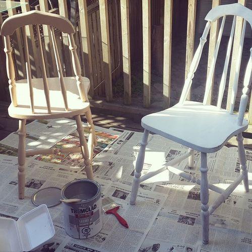 이렇게 생긴 의자들이.. 잠시후!? 가구페인팅 엔틱의자 Furniture Painting primer