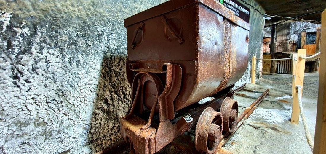 Old rusty metallic wall