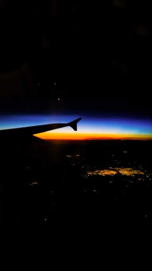 On the space : Mercury, Jupiter, Venus. Flying Airplane Transportation No People Aerial View Night Sky Astronomy Outdoors Nature Beauty In Nature Planets Align