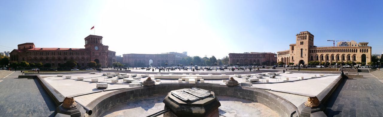 Architecture Armenia Building Exterior City City City Life City Street Cityscape Cityscape Cityscapes Clear Sky Clock Tower Cultures Day History HuaweiP9 Medieval No People Oo Outdoors Panorama Square Travel Destinations Urban Skyline Yerevan