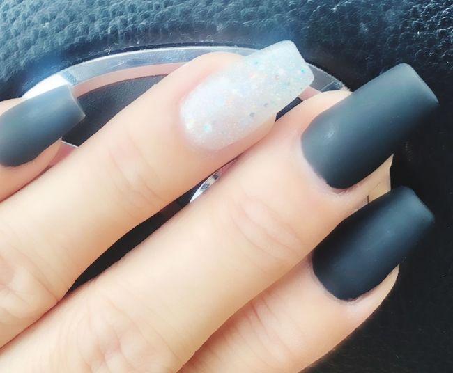 Matteblack Gel Nails Nail Polish