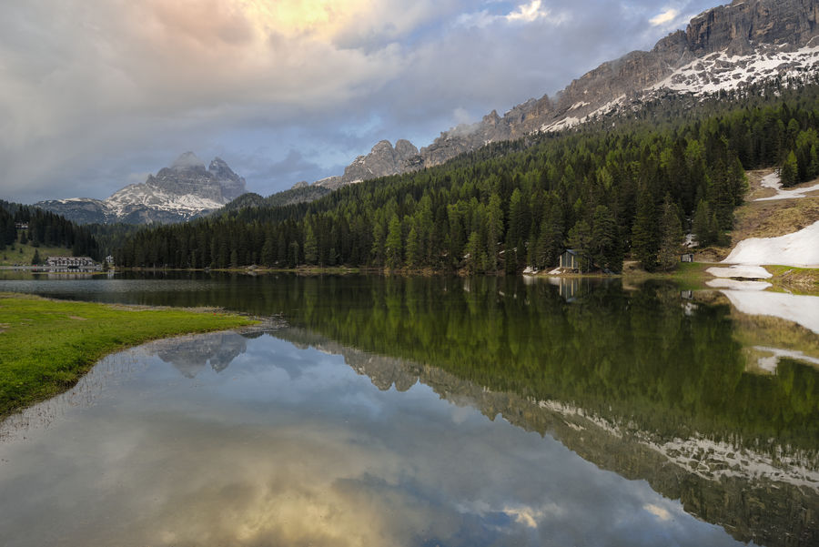 Beauty In Nature Cloud - Sky Lago Di Misurina Lake Landscape Mountain Mountain Range Reflection Sky Tre Cime Di Lavaredo Veneto Italy Water