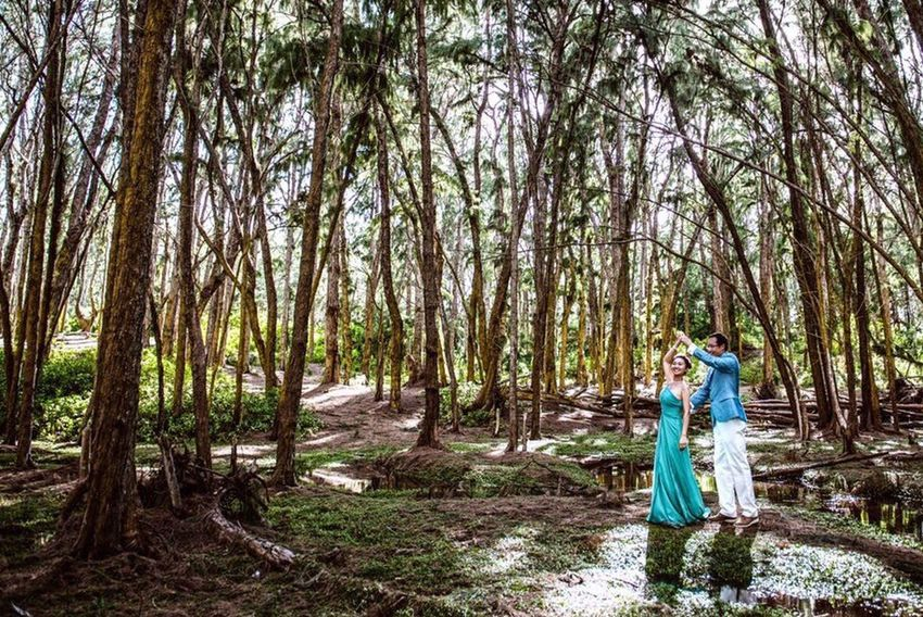 Forest Dance Engagement Photography Wedding Hawaii After the rain