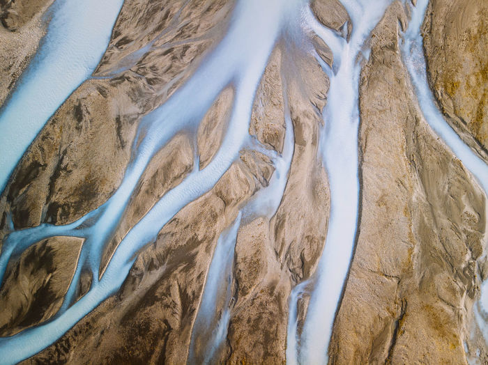 The beautiful abstract shapes of the Icelandic glacial rivers Check out my print store at http://simonmigaj.com/shop/ and visit my Instagram at http://www.instagram.com/simonmigaj to find out more about me and my work Iceland Beauty In Nature Day Environment Glacial River Glacier High Angle View Land Landscape Nature No People Non-urban Scene Outdoors Pattern Plant River Sand Scenics - Nature Tranquil Scene Tranquility Water