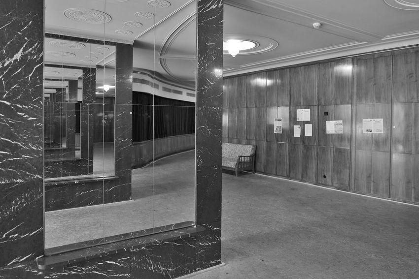 Berlin Mirror Mitte Spiegel Theater Trzoska Volksbühne Architecture Built Structure Day Indoors  No People S/w