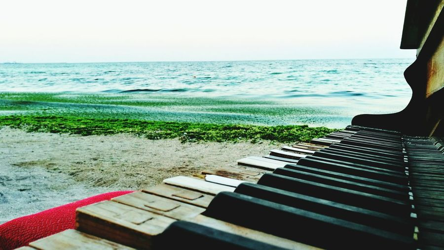 Old Piano Beach Evening Green Sea Sea And Sky Sand Piano Keys Pivotal Ideas TakeoverContrast Dramatic Angles Maximum Closeness