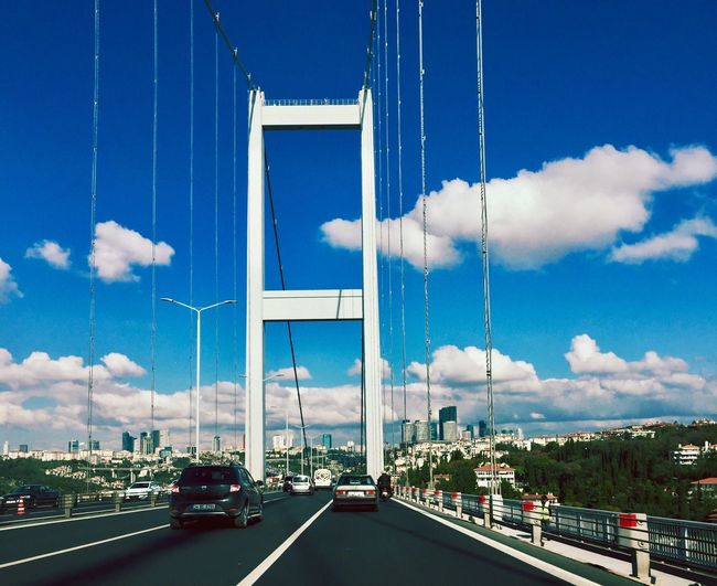 Cloud - Sky Car Point Of View Car Shots The Bridge Bogazicikoprusu On The Road On The Way Road Day Bridge - Man Made Structure No People City Of Istanbul