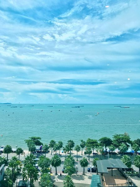 Sea Horizon Over Water Water Sky Beach Blue Outdoors Beauty In Nature Nature Scenics Tranquility Day Cloud - Sky Tree Vacations No People Pattaya Pattaya Thailand Hiltonhotel Hilton City