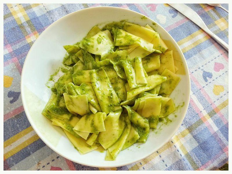 Mandilli a o pesto. Lasagne Pesto Alla Genovese Italian Food: Genova Liguria Note 2 Android Smartphone Photography Food Plate Pasta