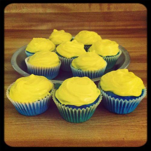 Michigan Go Blue Cupcakes
