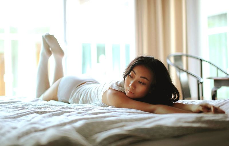 beautiful asian women in the bed in the morning. Morning Sexygirl Sexyasiangirl Wakeup Chinese Hotel Body & Fitness Inthebed Comfortable Interior Design Bedroom Athome  EyeEm Selects Bedroom Young Women Bed Beauty Domestic Life Relaxation Beautiful Woman Lying Down Beautiful People Women Pillow Waking Up Home Sweet Home Sleeping Hotel Room Bedtime Luxury Hotel